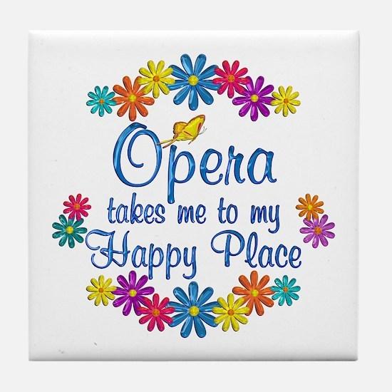 Opera Happy Place Tile Coaster