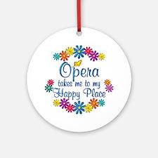 Opera Happy Place Ornament (Round)