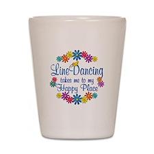 Line Dancing Happy Place Shot Glass