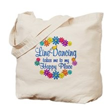 Line Dancing Happy Place Tote Bag