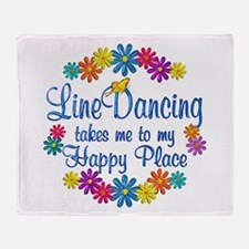 Line Dancing Happy Place Throw Blanket