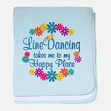 Line Dancing Happy Place baby blanket