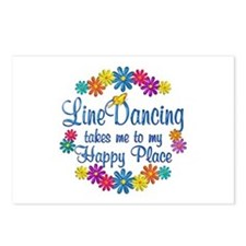 Line Dancing Happy Place Postcards (Package of 8)