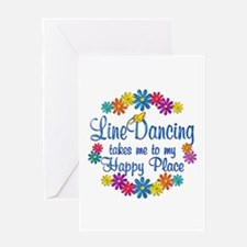 Line Dancing Happy Place Greeting Card