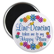 Line Dancing Happy Place Magnet