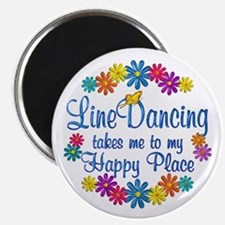 """Line Dancing Happy Place 2.25"""" Magnet (10 pack)"""