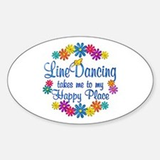 Line Dancing Happy Place Decal
