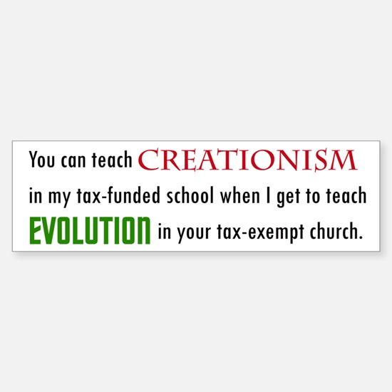 Creationism Bumper Bumper Bumper Sticker