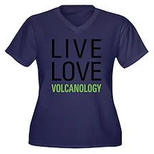 Volcanology Women's Plus Size V-Neck Dark T-Shirt