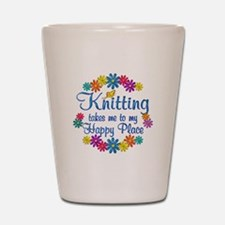 Knitting Happy Place Shot Glass