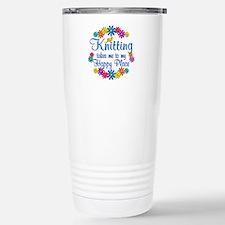 Knitting Happy Place Travel Mug