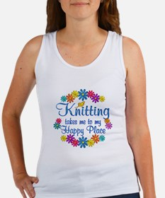 Knitting Happy Place Women's Tank Top