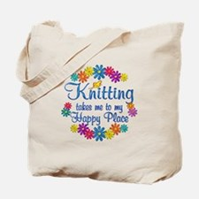Knitting Happy Place Tote Bag