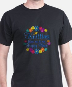 Knitting Happy Place T-Shirt