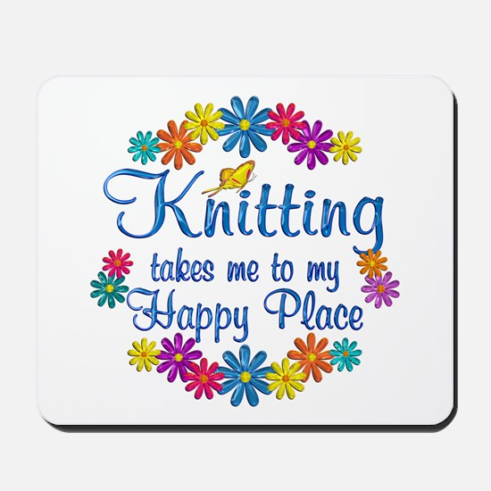 Knitting Happy Place Mousepad