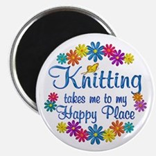 """Knitting Happy Place 2.25"""" Magnet (10 pack)"""