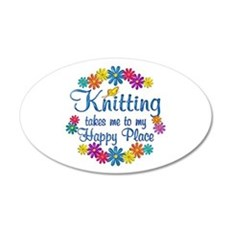 Knitting Happy Place Wall Decal
