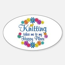 Knitting Happy Place Decal
