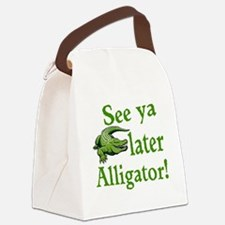 Later Alligator Canvas Lunch Bag
