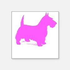 Pink Scottie Silhouette Sticker