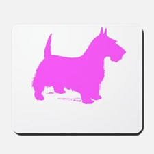 Pink Scottie Silhouette Mousepad