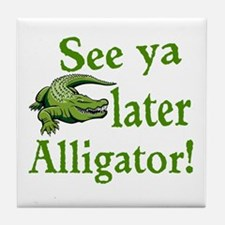 Later Alligator Tile Coaster