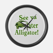 Later Alligator Large Wall Clock