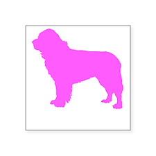 Pink Newfoundland Silhouette Sticker