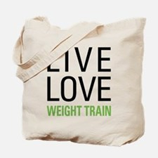Weight Train Tote Bag