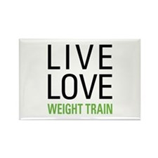Weight Train Rectangle Magnet