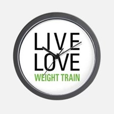 Weight Train Wall Clock