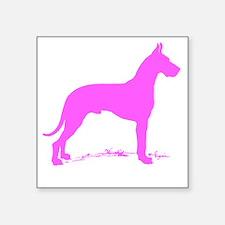 Pink Great Dane Silhouette Sticker