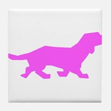 Pink Doxen Silhouette Tile Coaster