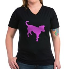 Pink Dog Silhouette T-Shirt