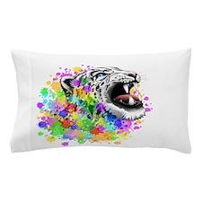 Leopard Psychedelic Paint Splats Pillow Case