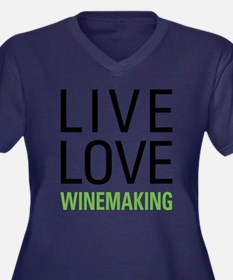 Winemaking Women's Plus Size V-Neck Dark T-Shirt