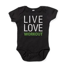 Live Love Workout Baby Bodysuit
