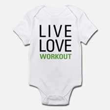 Live Love Workout Infant Bodysuit