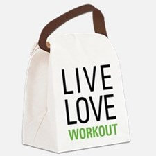 Live Love Workout Canvas Lunch Bag