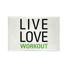 Live Love Workout Rectangle Magnet (10 pack)