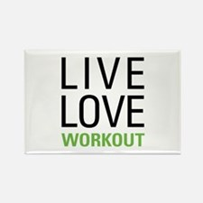 Live Love Workout Rectangle Magnet