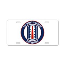 197th Infantry post Aluminum License Plate