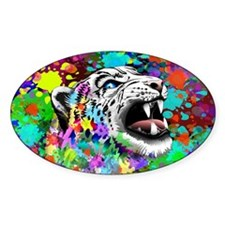 Leopard Psychedelic Paint Splats Decal