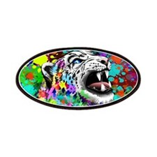 Leopard Psychedelic Paint Splats Patches