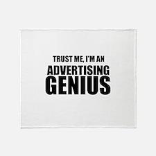 Trust Me, I'm An Advertising Genius Throw Blanket