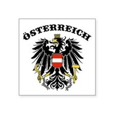 "Cute Austrian eagle Square Sticker 3"" x 3"""