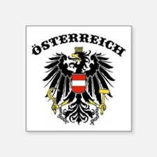 "Unique Austrian Square Sticker 3"" x 3"""