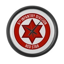 "6th Infantry ""Red Star"" Large Wall Clock"