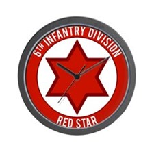 "6th Infantry ""Red Star"" Wall Clock"