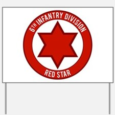 "6th Infantry ""Red Star"" Yard Sign"